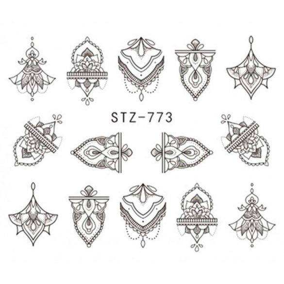 Tetoválás köröm matrica 3