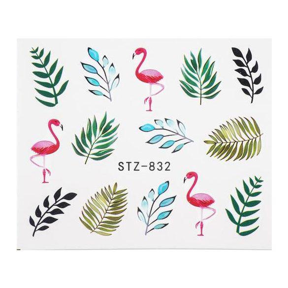 Leveles-flamingós köröm matrica 1