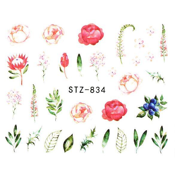 Virágos köröm matrica 4