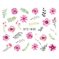 Virágos köröm matrica 5
