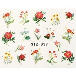 Virágos köröm matrica 7
