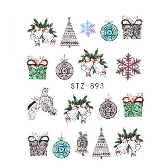 Karácsony köröm matrica 5