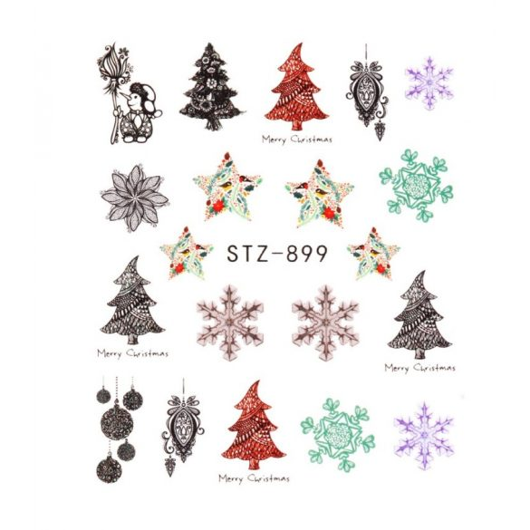Karácsony köröm matrica 7