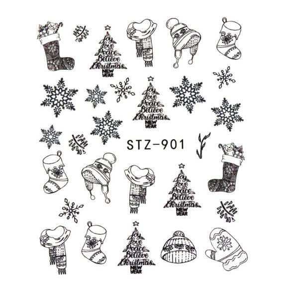 Karácsony köröm matrica 11