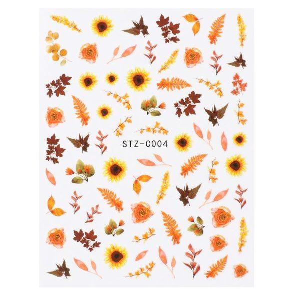 Őszi leveles körömmatrica