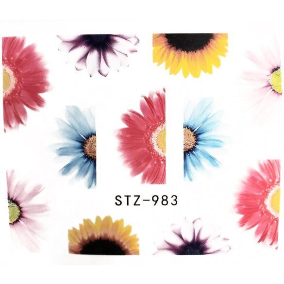 Virágos köröm matrica 18