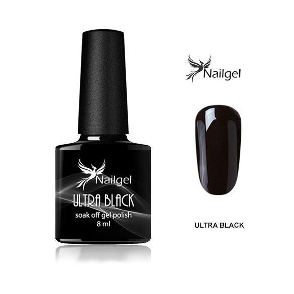 Ultra Black gél lakk  8 Ml