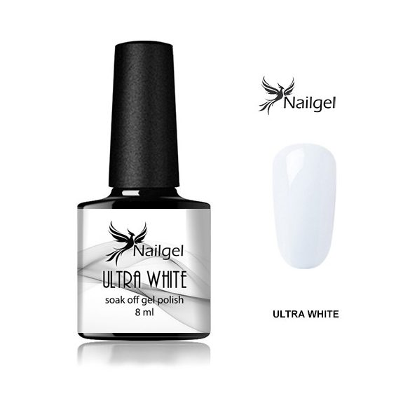 Ultra White gél lakk  8 Ml